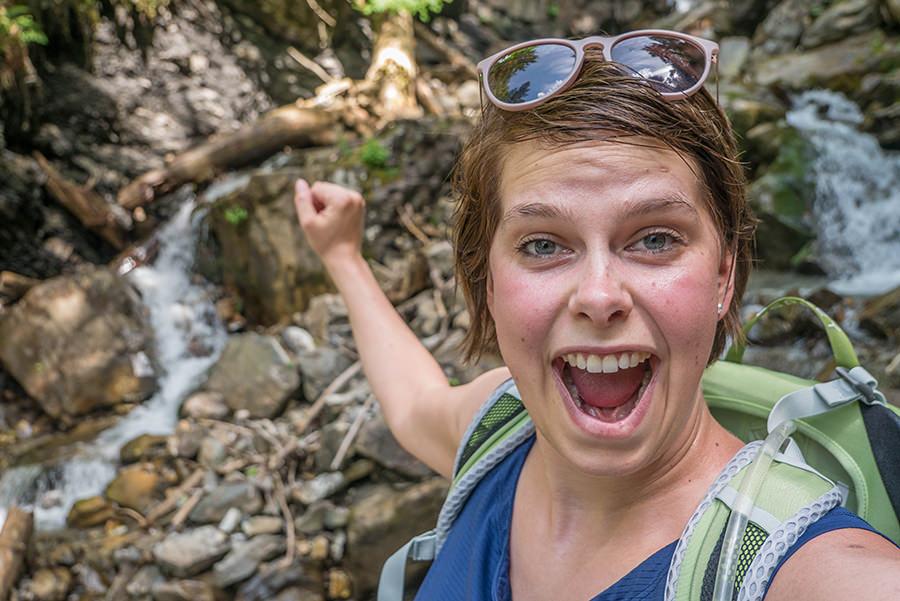 Wandern im Tobel bei Oberstdorf - Geschafft