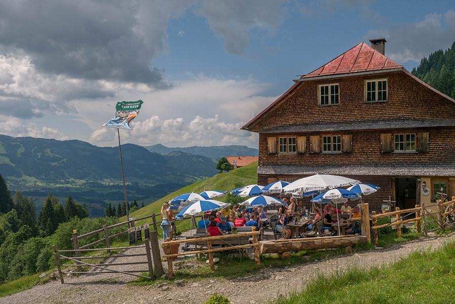 Wandern im Tobel bei Oberstdorf - Untere Richteralpe