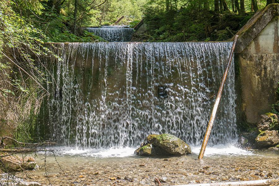 Wandern im Tobel bei Oberstdorf - Wasserfall