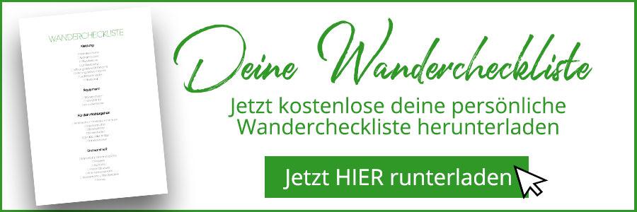 Banner kostenlose Wandercheckliste