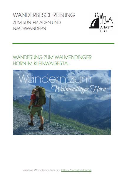 Wanderbeschreibung Wanderung Walmendinger Horn im Kleinwalsertal