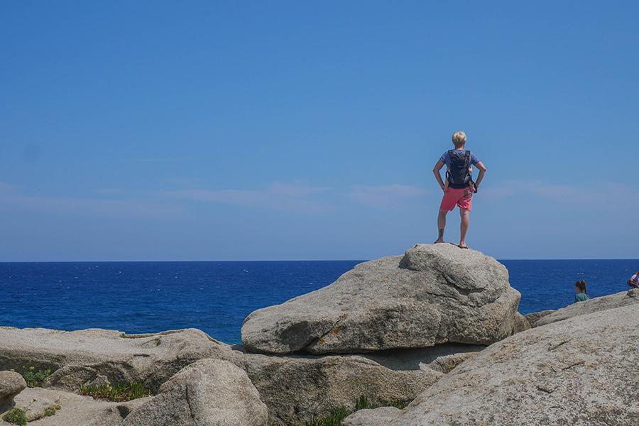 Wandern Costa Brava - GR 92 - grosse Felsen Christian