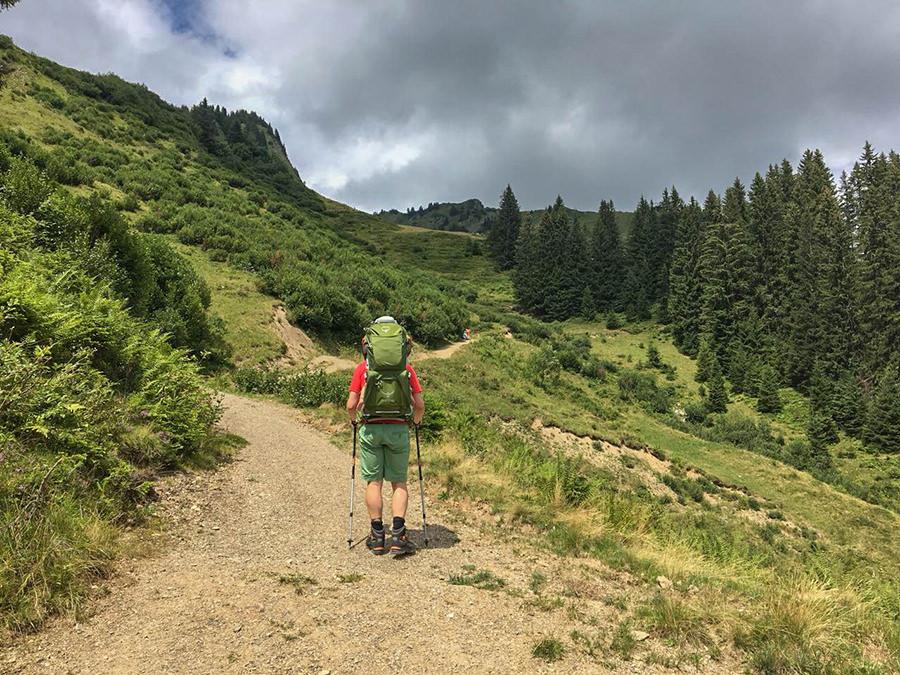 Wanderung zum Walmendinger Horn im Kleinwalsertal - Kurz vor der Alpe