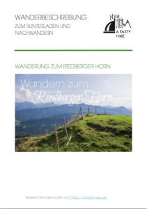 A Tasty Hike Wanderbeschreibung Riedberger Horn Cover