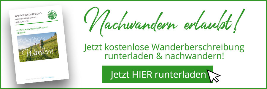 Banner kostenlose Wanderbeschreibung After Work Wandern Alpsee