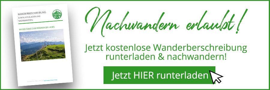 Banner kostenlose Wanderbeschreibung Riedberger Horn