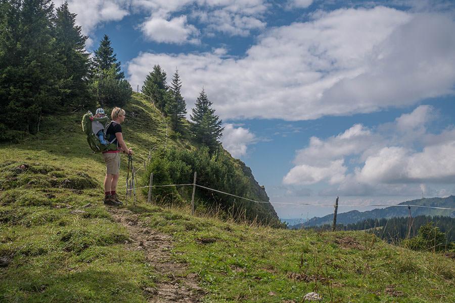 Oberjoch Wandern - Wanderung zum Spieser - Aussicht Christian