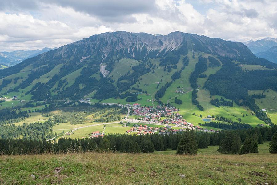 Oberjoch Wandern - Wanderung zum Spieser - Aussicht Oberjoch