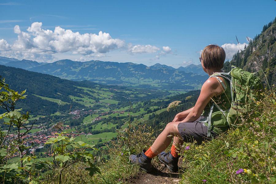 Oberjoch Wandern - Wanderung zum Spieser - Aussicht geniessen
