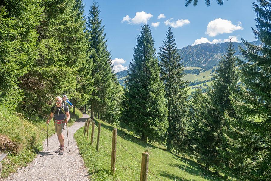 Oberjoch Wandern - Wanderung zum Spieser - Christian wandert