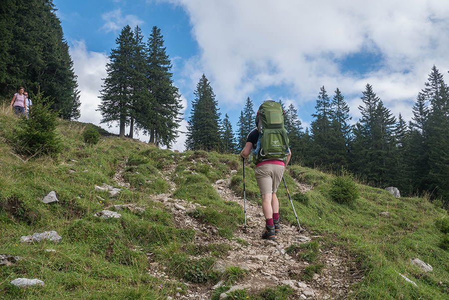 Oberjoch Wandern - Wanderung zum Spieser - Spieser erklimmen