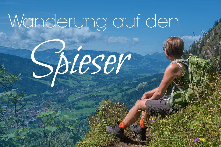 Oberjoch Wandern - Wanderung zum Spieser - Titel