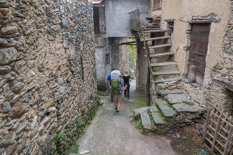 Wandern Gravedona - Dorf