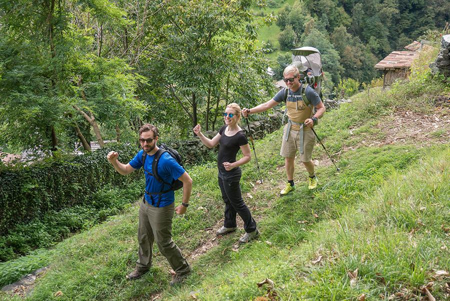 Wandern Gravedona - Wandergruppe
