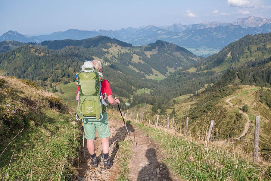 Wandern zum Riedberger Horn - Abstieg
