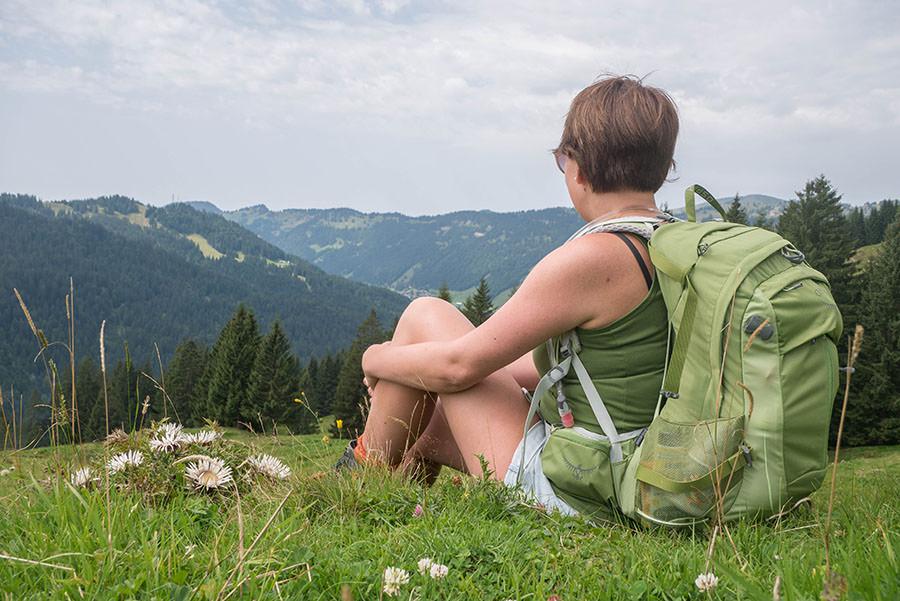 Wandern zum Riedberger Horn - Aussicht geniessen