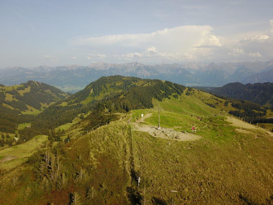 Wandern zum Riedberger Horn - Drohnenaufnahme