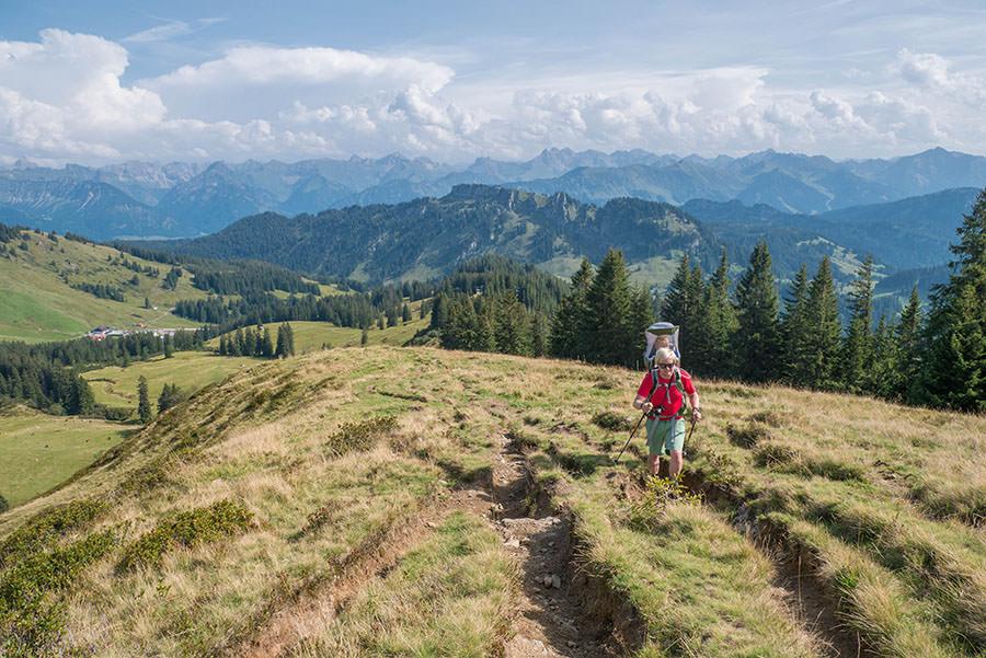 Wandern zum Riedberger Horn - die letzten Meter