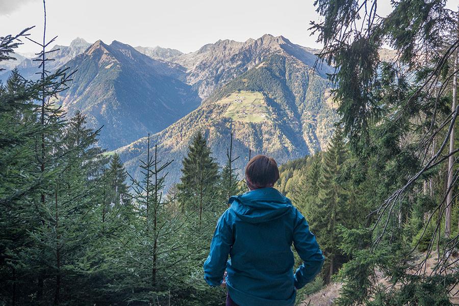 Wandern Taser in Suedtirol - Aussicht Jana
