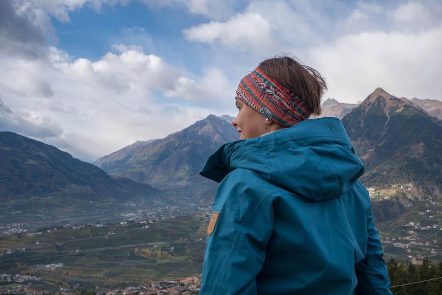 Wandern Taser in Suedtirol - Aussicht geniessen