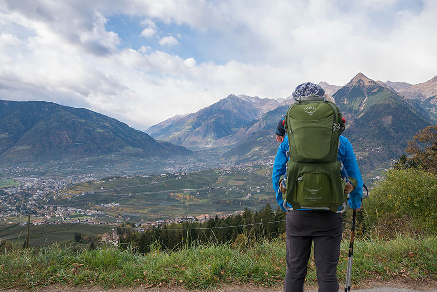 Wandern Taser in Suedtirol - Aussicht
