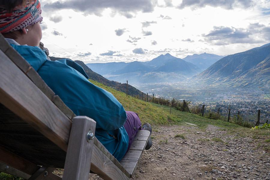 Wandern Taser in Suedtirol - Liegestuhl Zmailer Alm