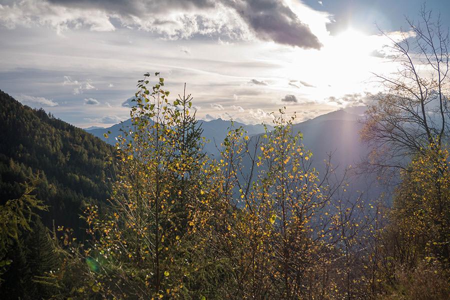 Wandern Taser in Suedtirol - Sonnenuntergang