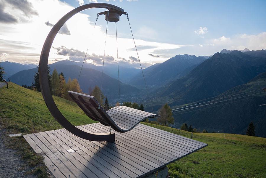Wandern Taser in Suedtirol - Taser Bahn Ausblick