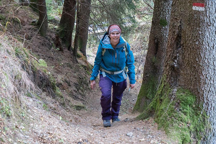 Wandern Taser in Suedtirol - Wanderweg Jana