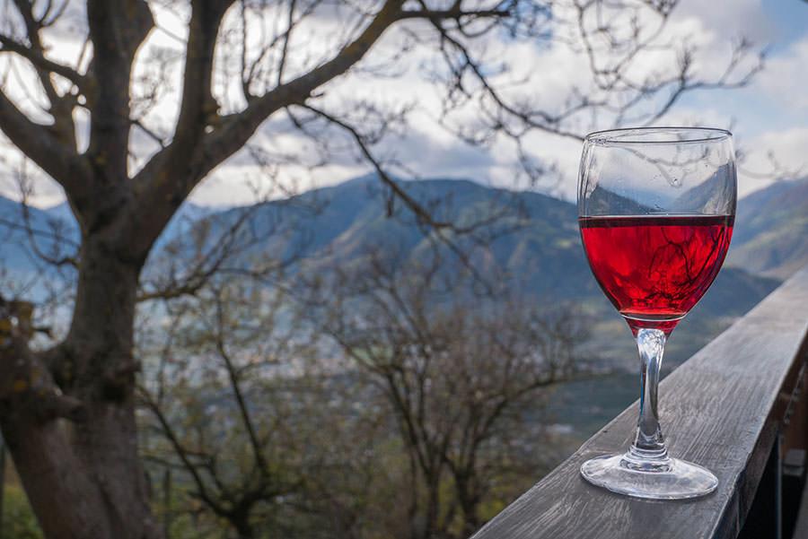 Wandern Taser in Suedtirol - Wein auf der Zmailer Alm