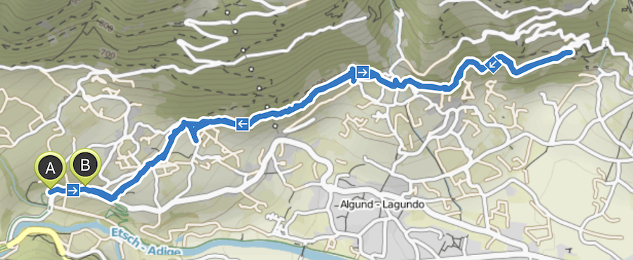 A Tasty Hike - Wandern Algunder Waalweg - Wanderkarte