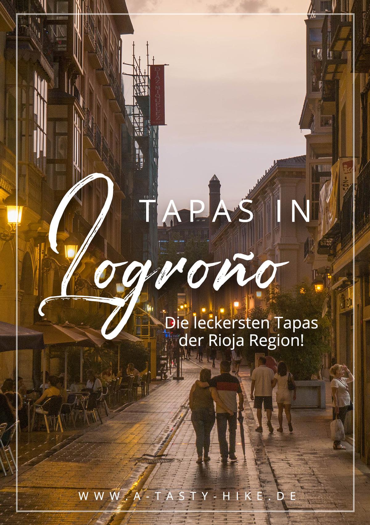 Die beiden beliebtesten Straßen zum Tapas bzw. Pintxos essen in Logroño in Spanien sind die Calle Laurel und die Calle San Juan. Wir haben eine Einheimische nach ihren Tipps für die besten Tapas der Rioja Region in Logroño gefragt und alle für euch getestet. Eine Übersicht findet ihr in diesem Artikel! #Logroño #Spanien #Rioja #Tapas #Pintxos