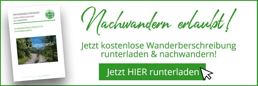 Banner kostenlose Wanderbeschreibung Banner Baergunttal