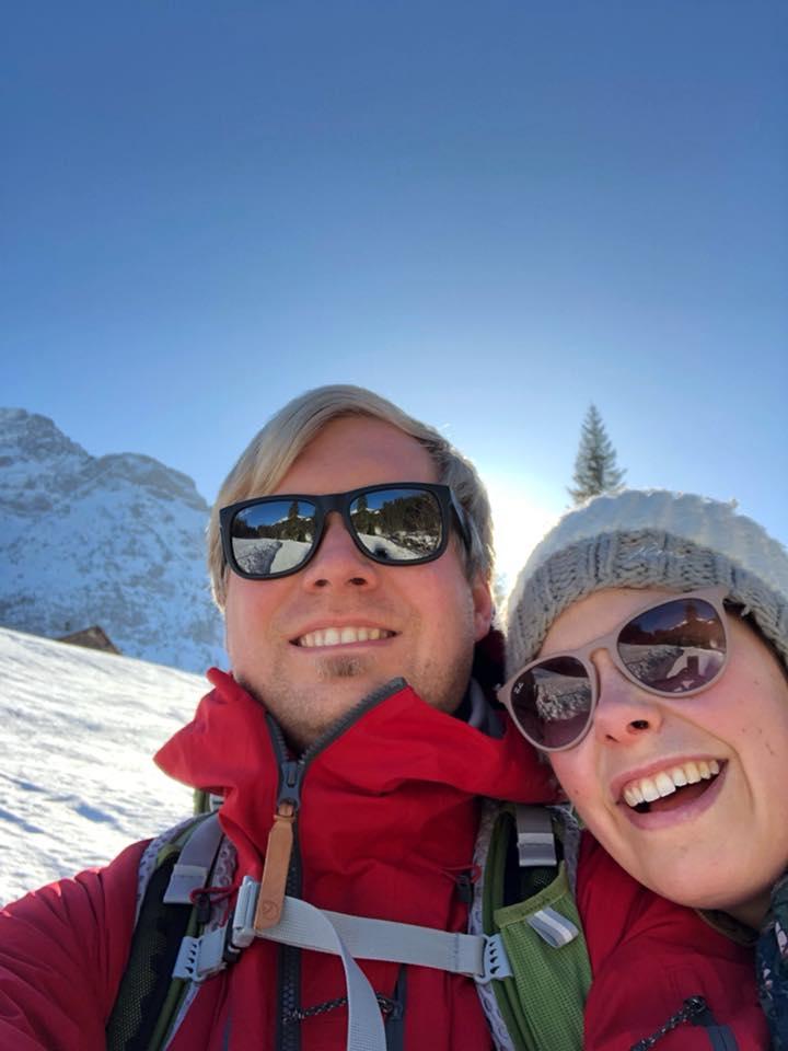 Wandern im Kleinwalsertal - Rundwanderung Baergunthuette - Winterwandern - Christian und Jana