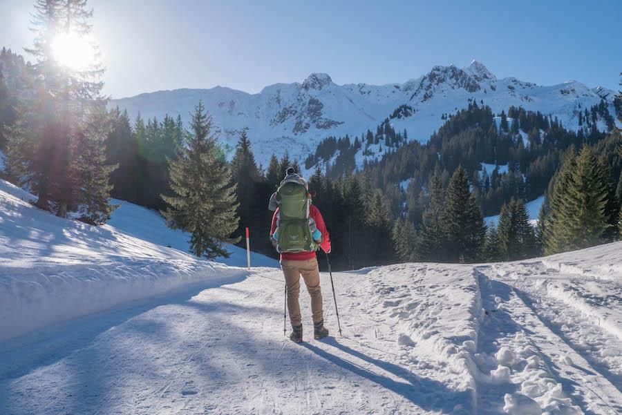 Wandern im Kleinwalsertal - Rundwanderung Baergunthuette - Winterwandern - Titel