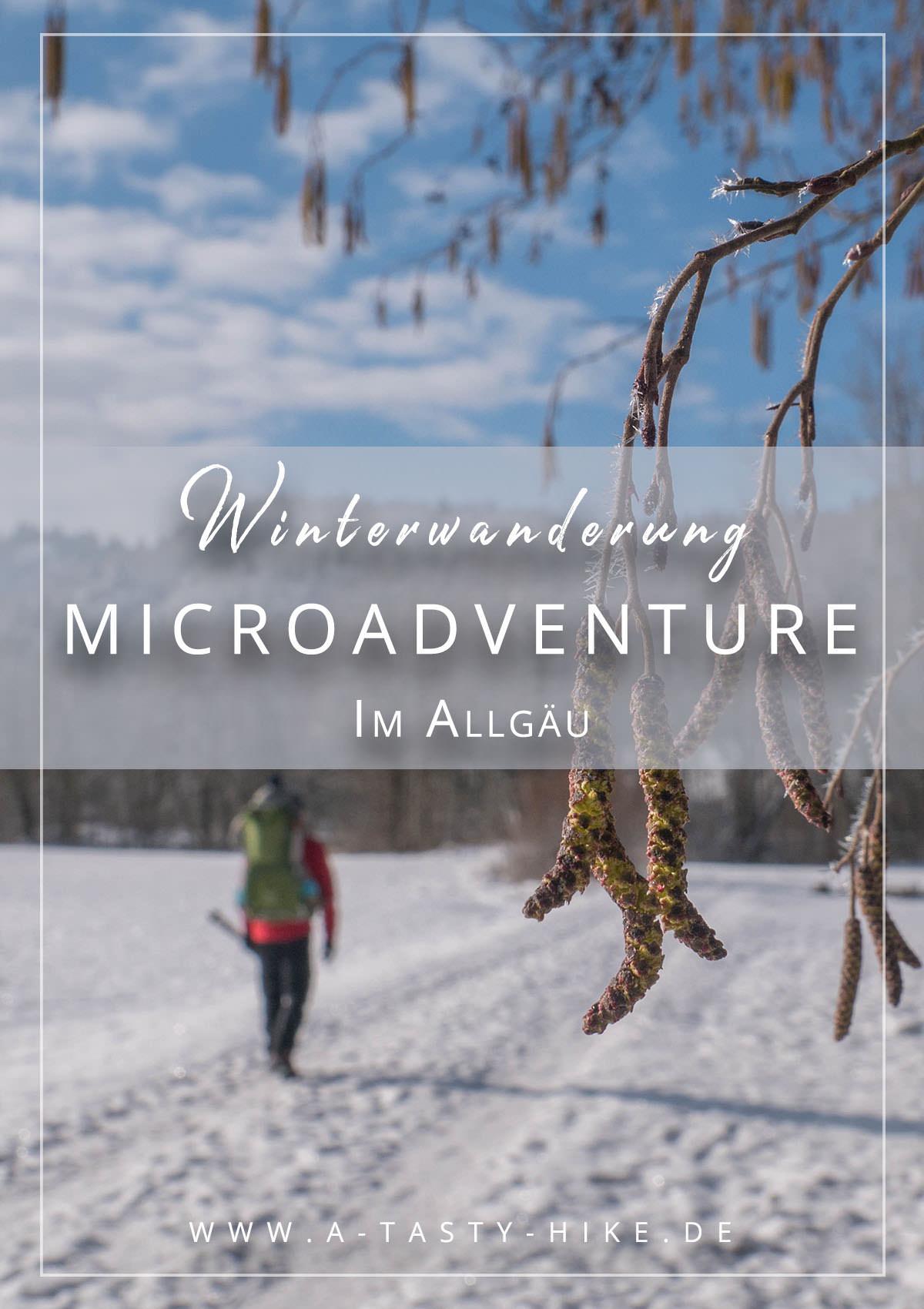 Tolles Microadventure im Allgäu - Winterwandern bei Schmiedsfelden - Mini Wanderung durch den Schnee im Allgäu #Winterwandern #Allgäu