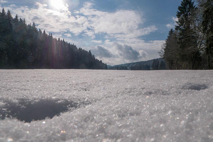 A Tasty Hike - Microadventure - Wanderung Schmiedsfelden - Schnee