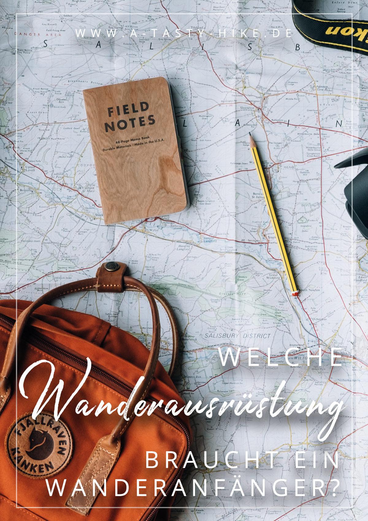 A Tasty Hike - Wanderausruestung fuer Wanderanfaenger - Pinterest