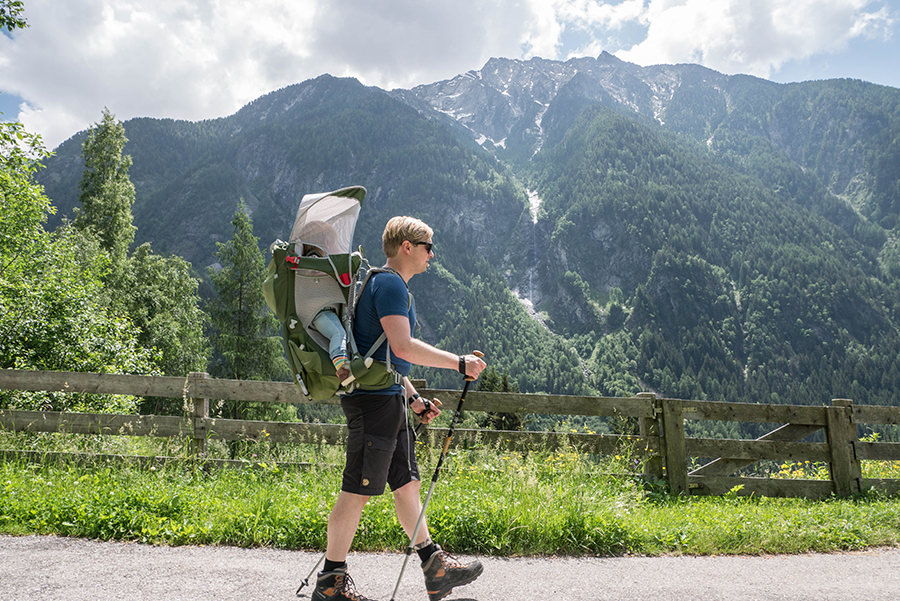A Tasty Hike Wanderung Reinbach Wasserfaelle bei Sand in Taufers in Suedtirol - Christian wandert