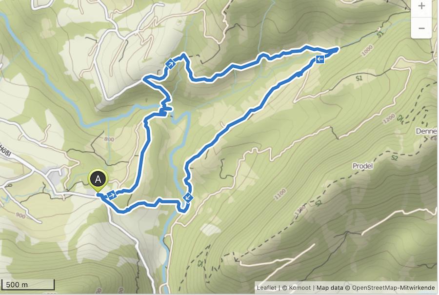A Tasty Hike - Wanderung Buchenegger Wasserfaelle - Karte