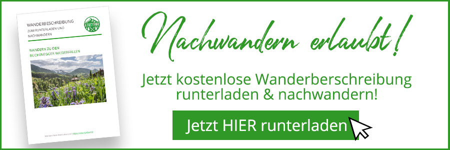 A Tasty Hike - Wanderung Buchenegger Wasserfaelle - kostenlose Wanderbeschreibung Banner