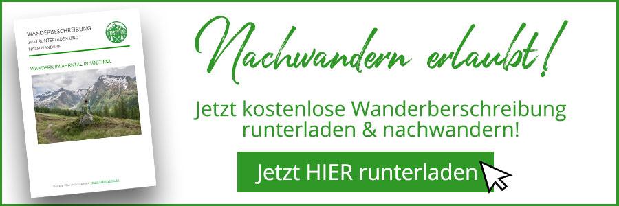 A Tasty Hike - Wanderung Kasern - Suedtirol - Wanderbeschreibung Banner