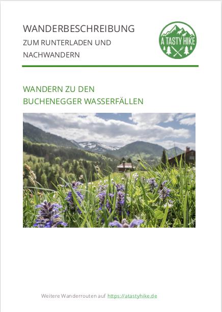 Wandern Allgäu - Buchenegger Wasserfälle - Wanderbeschreibung