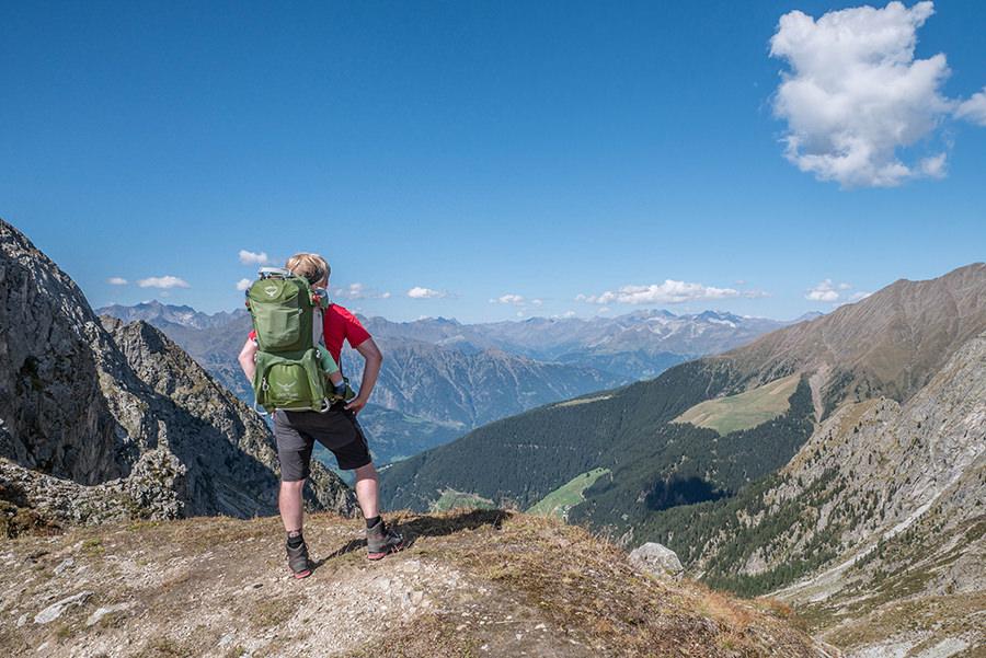 A Tasty Hike - Wanderung Kuhleitenhuette Meran 2000 - Aussicht Christian
