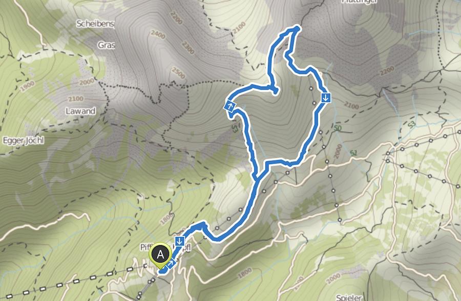 A Tasty Hike - Wanderung Kuhleitenhuette Meran 2000 - Wanderkarte