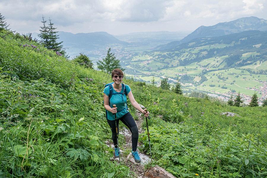 Bad Hindelang wandern - Wanderung zum Imberger Horn im Allgaeu - A Tasty Hike - Aufstieg