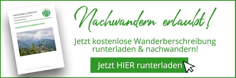 Bad Hindelang wandern - Wanderung zum Imberger Horn im Allgaeu - A Tasty Hike - Kostenlose Wanderbeschreibung