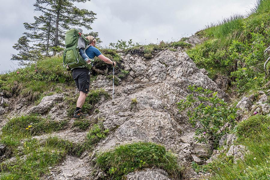 Bad Hindelang wandern - Wanderung zum Imberger Horn im Allgaeu - A Tasty Hike - Kraxeln