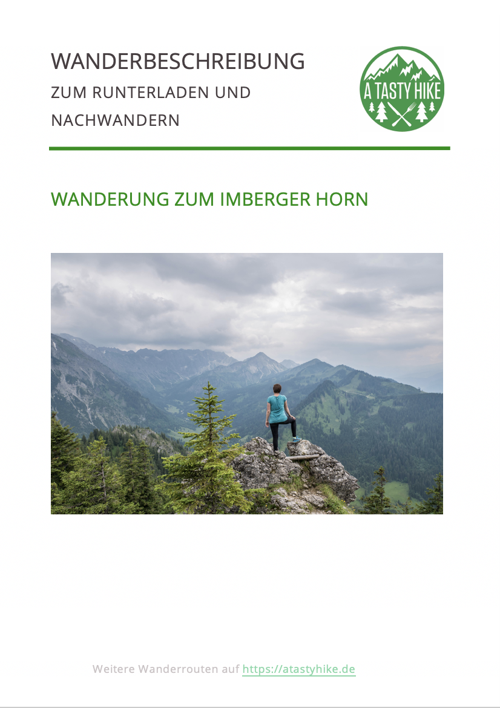 Wandern Bad Hindelang - Imberger Horn - Wanderbeschreibung