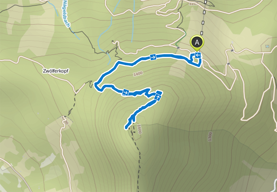 Bad Hindelang wandern - Wanderung zum Imberger Horn im Allgaeu - A Tasty Hike - Wanderkarte